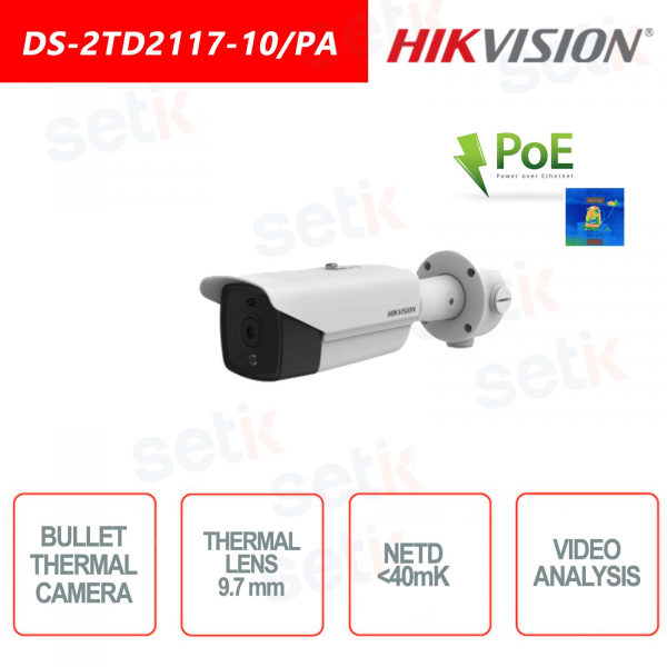 Hikvision Bullet PoE Thermal Camera - Fire Alarm