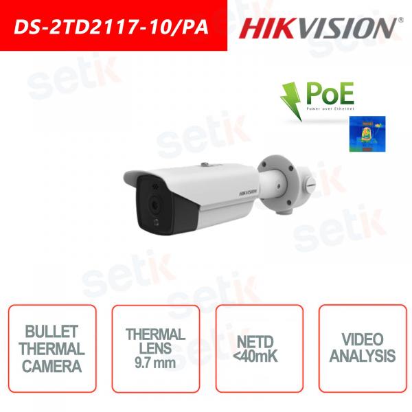 Telecamera Termica Hikvision Bullet PoE - Allarme Incendio
