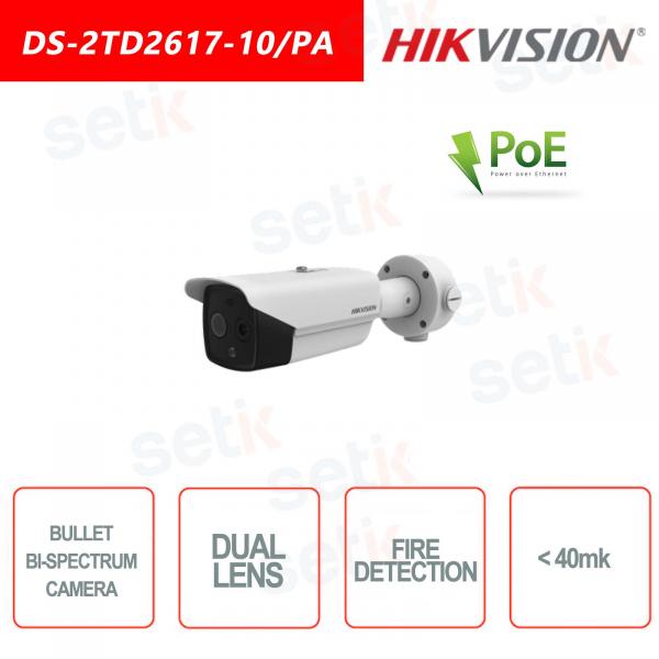 Telecamera Bullet Termica&Ottica Bi-spettro Hikvision
