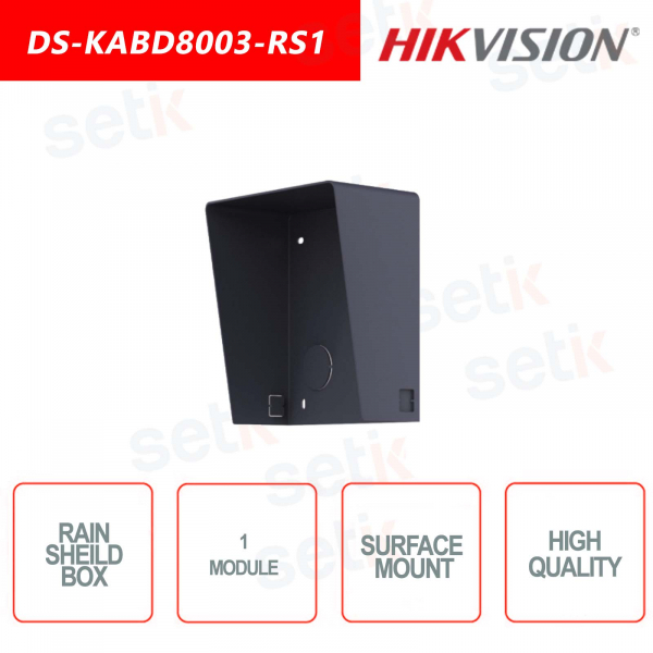 External box with rainproof canopy-1 module-Hikvision