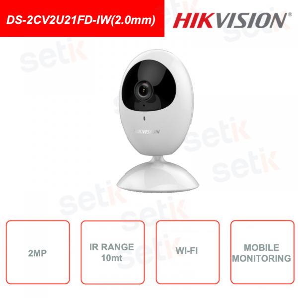 2MP IR Fixed Network Cube Camera DS-2CV2U21FD-IW (2.0mm)