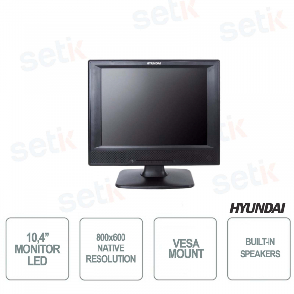 Hyundai 10,4 '' LED Monitor - Speakers - 24x7 - 800x600 4: 3