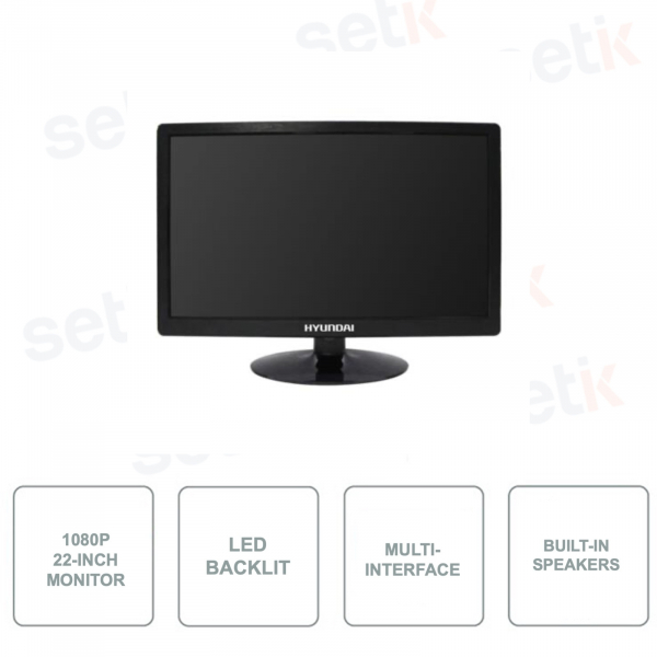 HYU-533 - 22 Inch Monitor - 16: 9 - Full HD 1080p - HDMI - 2 BNC - 1 VGA - 1 BNC Out