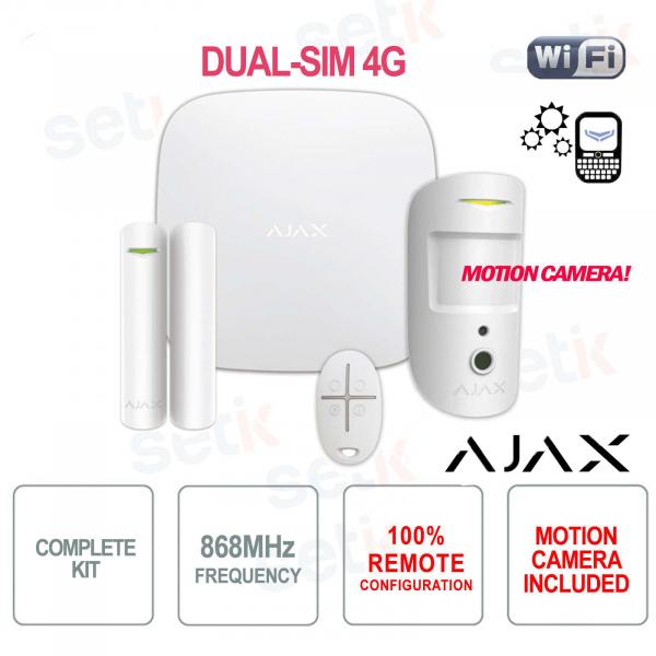 AJAX Kit di Allarme Professionale Wireless senza fili GPRS / Ethernet dual-SIM 4G