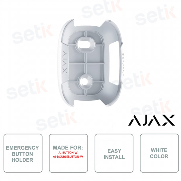 AJ-HOLDER-W - Ajax - Bracket for emergency button - White color - For selected Ajax models