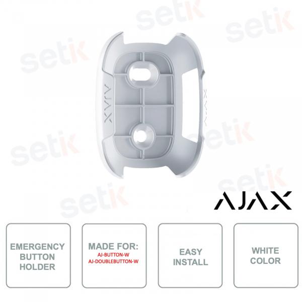 AJ-HOLDER-W - Ajax - Staffa per pulsante di emergenza - Colore bianco - Per modelli selezionati Ajax