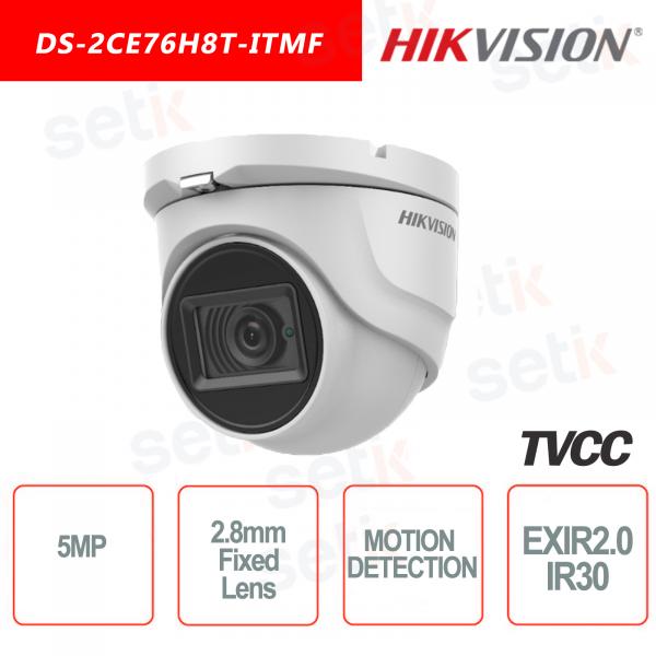 Hikvision IR30 Turret camera 5MP Motion Detection