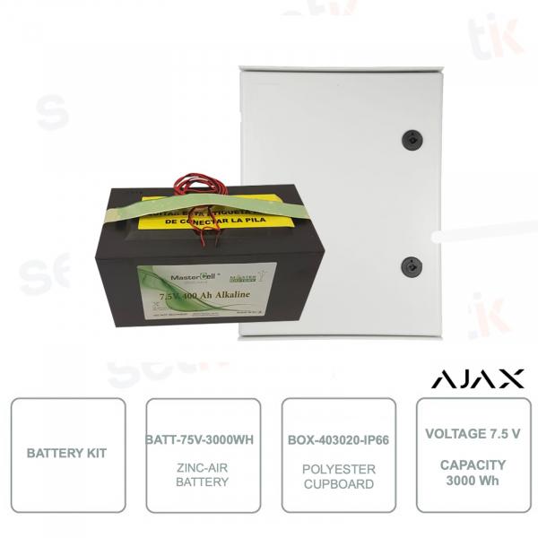 AJ-BATTERYBOX-7M - Battery Kit - BOX-403020-IP66 and BATT-75V-3000WH