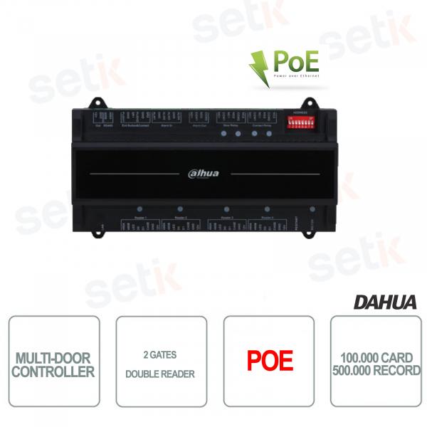 Controller per controllo accessi due Varchi e doppio lettore - PoE - Dahua