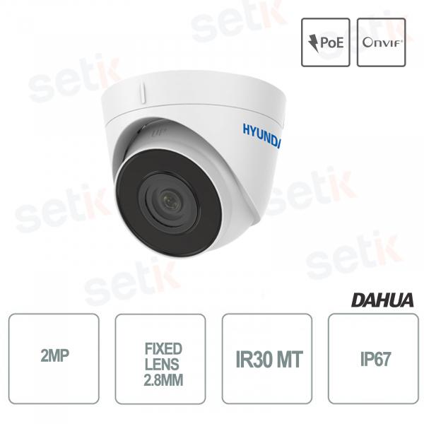 Hyundai 2MP Dome Fixed Lens 2.8mm IP IR30 Onvif PoE