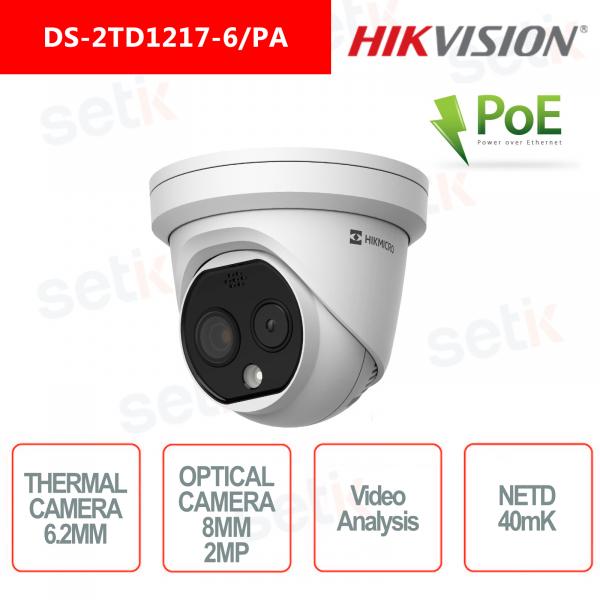 IP Camera Hikvision Bullet Thermal Camera 40mk 6.2mm Standard Optical Camera 8mm 4MP IP66