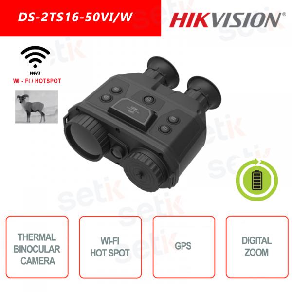 Telecamera binoculare termica portatile Hikvison DS-2TS16-50VI/W