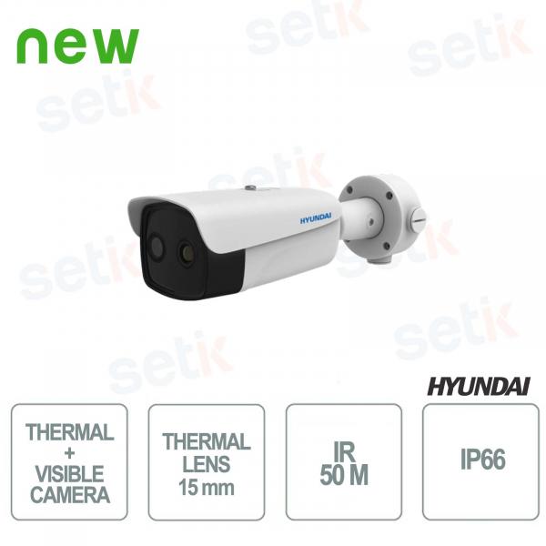 Telecamera Bullet Termica + Visibile Hyundai da esterno