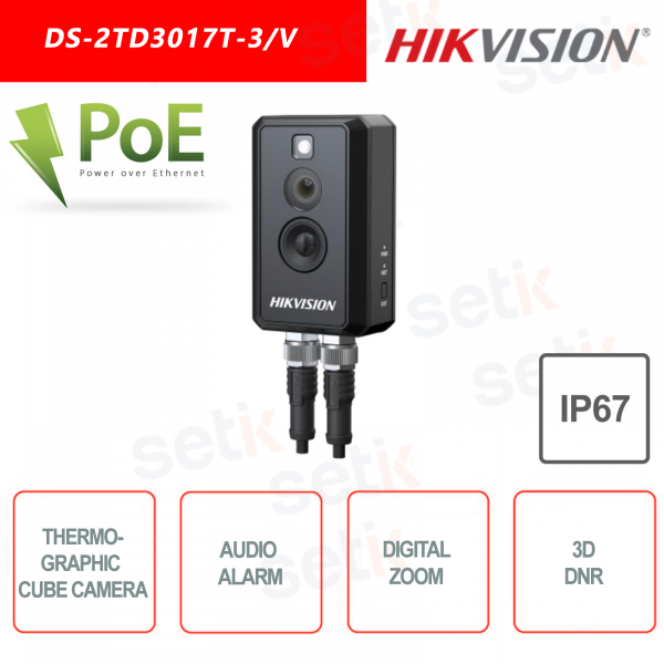 Telecamera termografica Cube Hikvision DS-2TD3017T-3/V