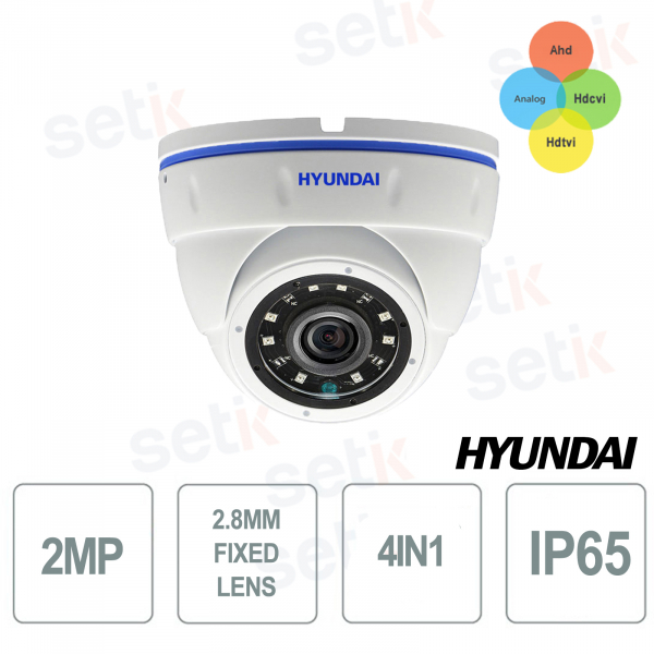 Hyundai 2MP 4 in 1 Dome Outdoor Camera SMART IR 12 LED 15-20M