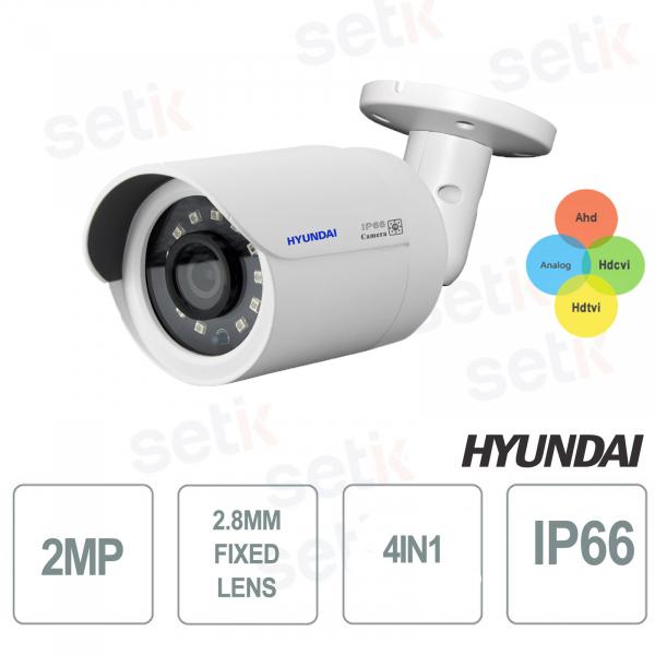 Bullet Video Surveillance Camera 4 in 1 2MP 2.8mm Smart IR 20 LED 20-30 meters HYUNDAI