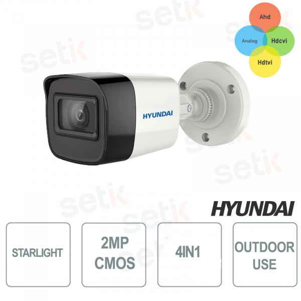 Camera Bullet STARLIGHT 4 in 1 2MP IR EXIR 2.0-50 MT CMOS 2MP HYUNDAI