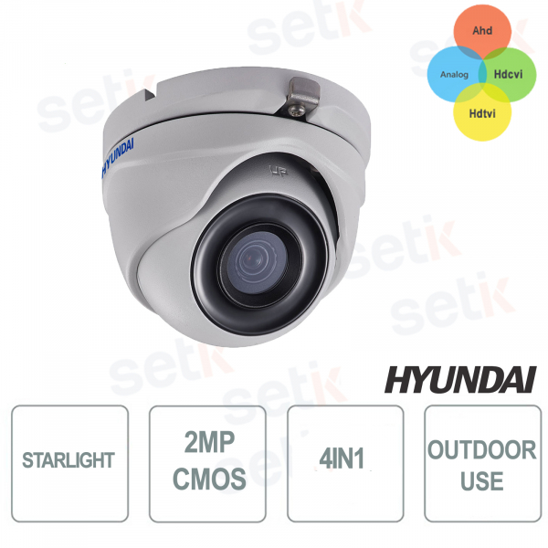 Dome Fisso STARLIGHT 4 in 1 2MP IR EXIR 20-30 METRI CMOS 2MP HYUNDAI