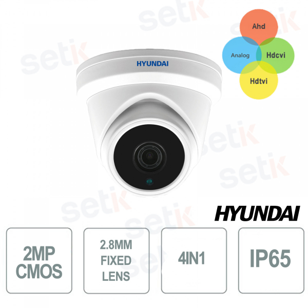 Fixed Dome 4 in 1 2MP IR 20-30 METERS CMOS 1 / 2.9 HYUNDAI