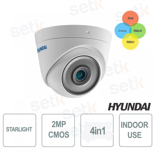 Fixed Dome STARLIGHT 4 in 1 2MP IR 20-30 METERS CMOS 2MP HYUNDAI