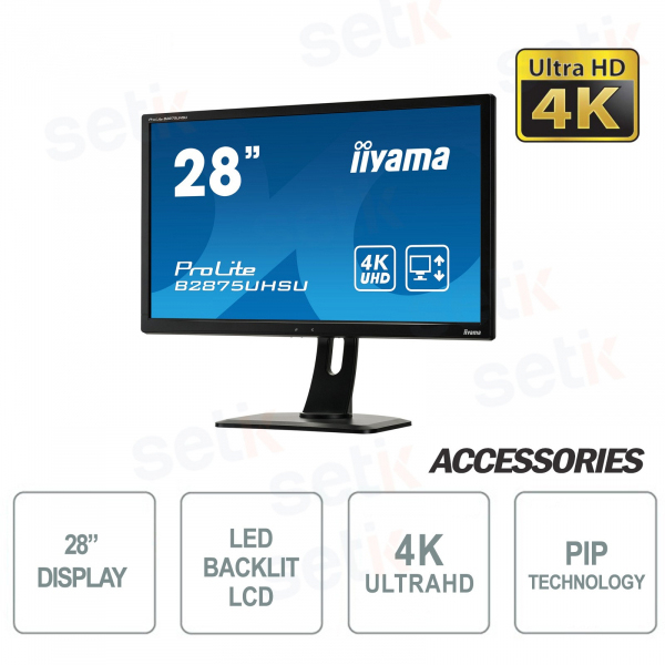 "Monitor Prolite 28"" Ultra HD 4K HAS PIP - IIYAMA"