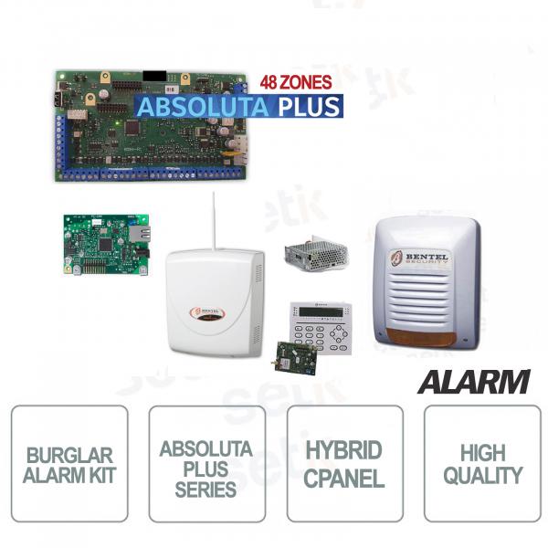 Professional Bentel Home Alarm Kit Absoluta Plus ABS48 Zone + IP Card