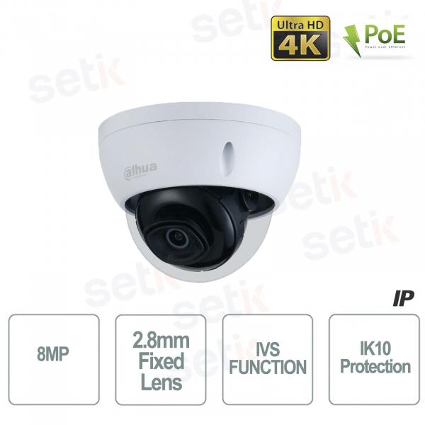 Dahua Outdoor IP Camera Onvif PoE 4K 8MP UHD Ultra HD IR 30M IK10