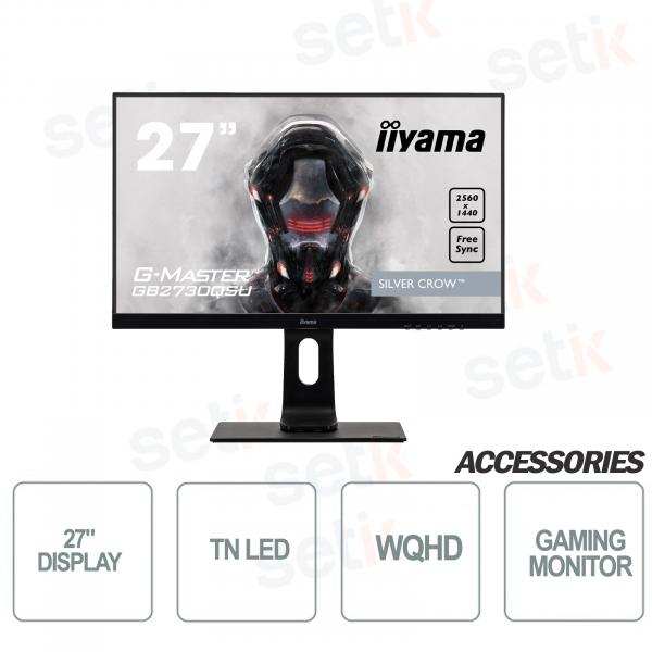 """Monitor Silver Crow gaming 27"""" WQHD G-Master - IIYAMA"""
