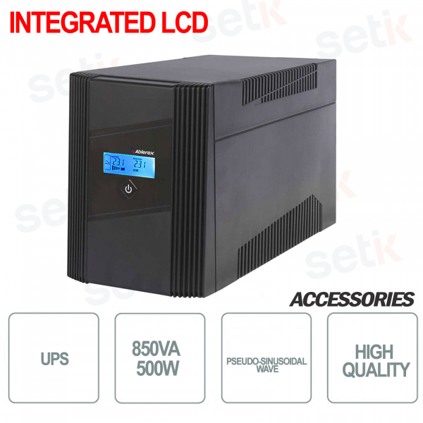 L'alimentation sans coupure UPS850LCD / 500W intègre un écran LCD