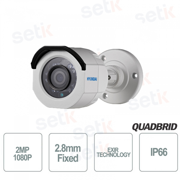 Telecamera Videosorveglianza Hyundai 2MP 4 in 1 bullet 2.8mm IR