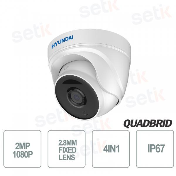 Hyundai 2 MP 4in1 Dome Camera Fixed Optic D