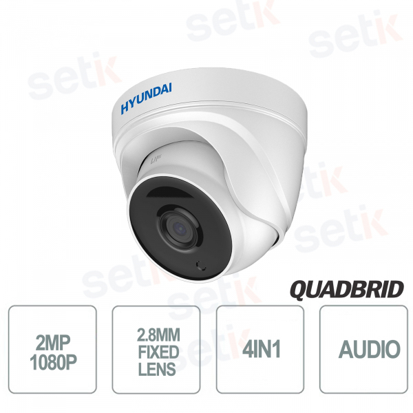 Hyundai 2 MP 4in1 Dome Camera Fixed Optic D-WDR A