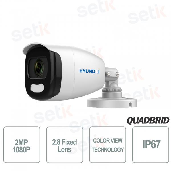 Hyundai 2MP 4in1 Bullet Camera Fixed Lens COLOR VIEW 3D