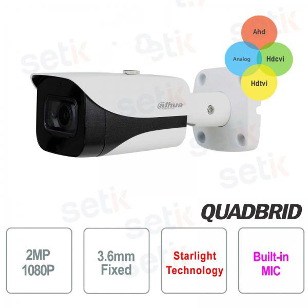 2MP 4in1 3.6mm Starlight Audio outdoor camera