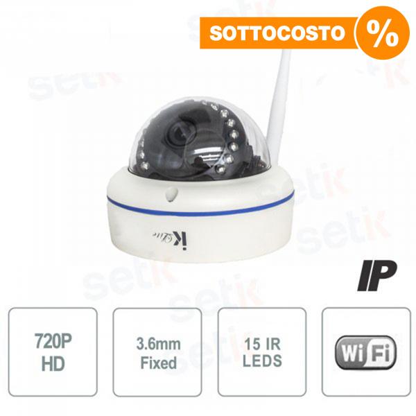Telecamera IP Standalone 1MP Dome 3.6mm IR Wireless - Setik