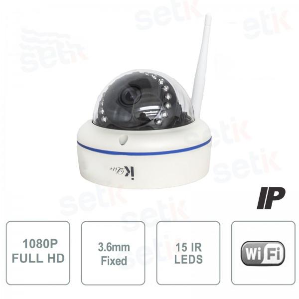 Telecamera IP Standalone 2MP Dome 3.6mm IR Wireless - Setik