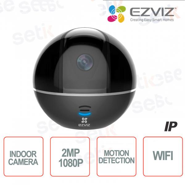 C6TC Ezviz Telecamera IP da interno WIFI 2MP Rotante Motorizzata 4mm Hikvision IR Black