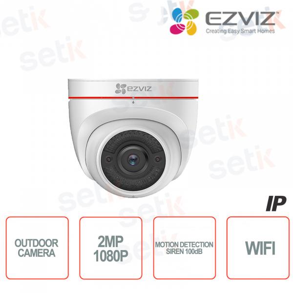 C4W Ezviz Telecamera IP da esterno WIFI 2MP Active Defense Sirena Luce Strobo Hikvision