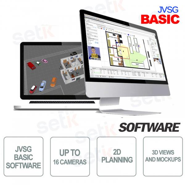 Basic JVSG CCTV Software per sistemi videosorveglianza ip design tool