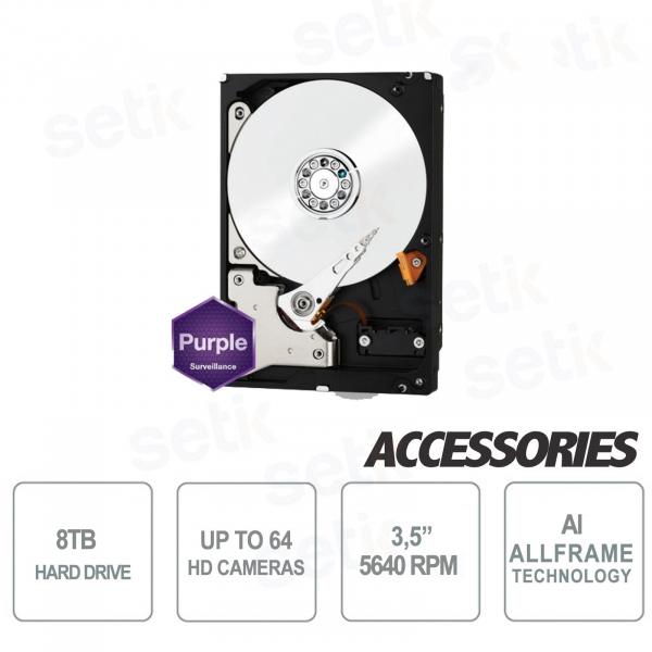 "Hard Disk Interno 8 TB Audio Video SATA 3.5"" AllFrame 4K - WD"