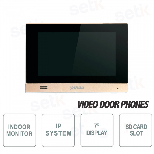"Internal Dahua IP Monitor 7 ""Touch Microphone MicroSD"