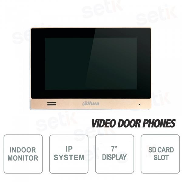 """Postazione interna Dahua IP Monitor 7"""" Touch Microfono Slot MicroSD"""