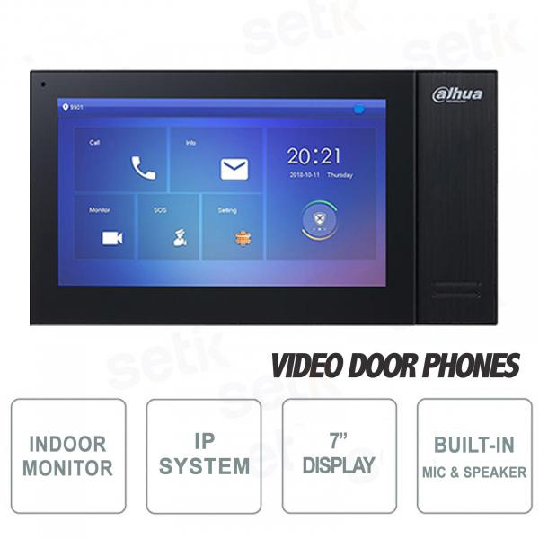 Postazione interna IP Dahua Monitor SIP 7 Pollici Touch PoE MicroSD - Colore Nero
