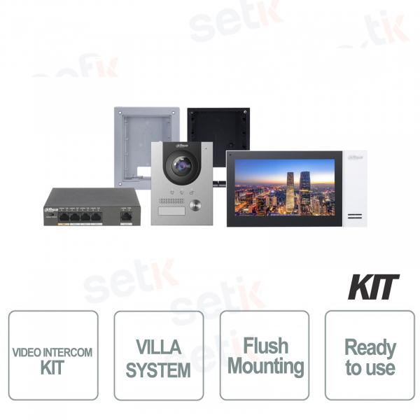 Dahua Kit Videocitofono IP Villa da Incasso Completo