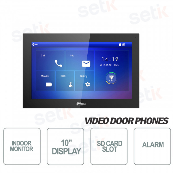 Indoor Display Station 10 Inch Touch + MicroSD Slot and Snapshot - Black - D