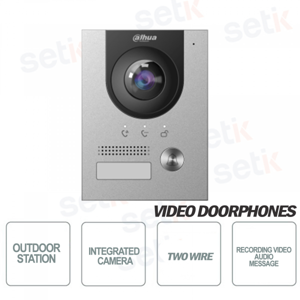 ONVIF and Poe outdoor station with 2Mp 160 ° camera - Vandalproof - Dahua