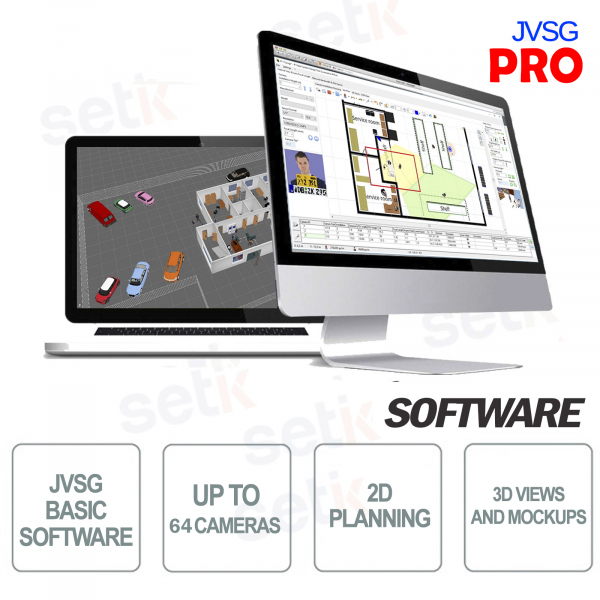 Pro JVSG CCTV Software per sistemi videosorveglianza ip design tool