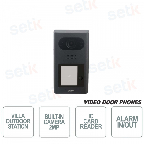 Videocitofono Dahua per Ville IP PoE-1 Pulsante-2MP
