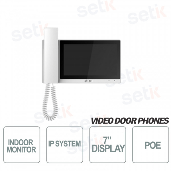 Indoor station IP Dahua 7 Inch TFT Monitor Touch PoE MicroSD - White C