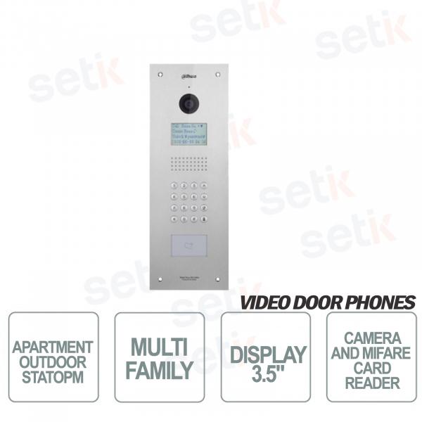 Postazione Esterna Multi-Famigliare con Telecamera, Display LCD, Lettore Card MIFARE e Tastierino Numerico - Antivandalo - Dahua